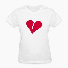 White brokenhearted Women's T-Shirts