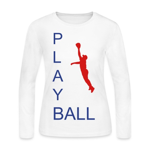 Base ball - Women's Long Sleeve Jersey T-Shirt