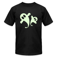 T-Shirts ~ Men's T-Shirt by American Apparel ~ Glow in the Dark Ghosties!