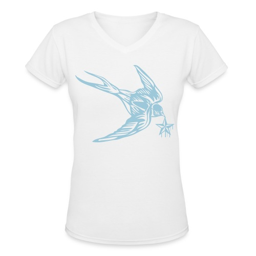 Womens V Neck StarBird - Women's V-Neck T-Shirt
