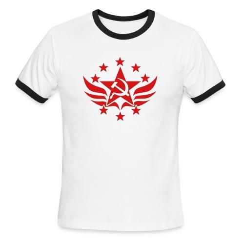 Soviet Emblem Ringer Tee - Men's Ringer T-Shirt