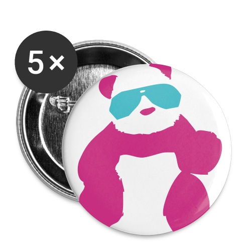 Panda Small Button 5 Pack - Small Buttons
