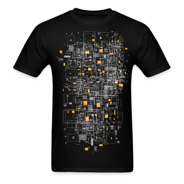 Black squares sqared designer graphic T-Shirts