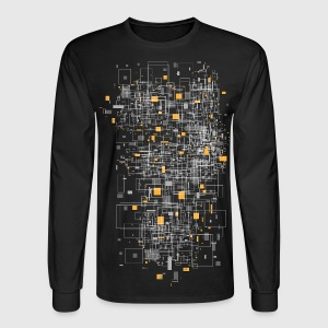 Black squares sqared designer graphic Long Sleeve Shirts - Men's Long Sleeve T-Shirt