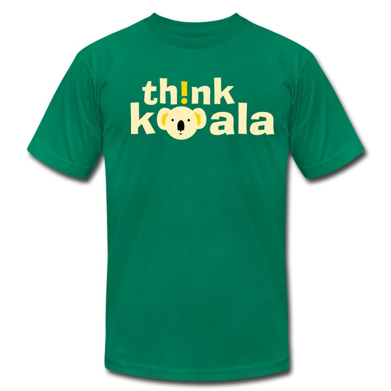 Th!nk Koala! - Men's T-Shirt by American Apparel