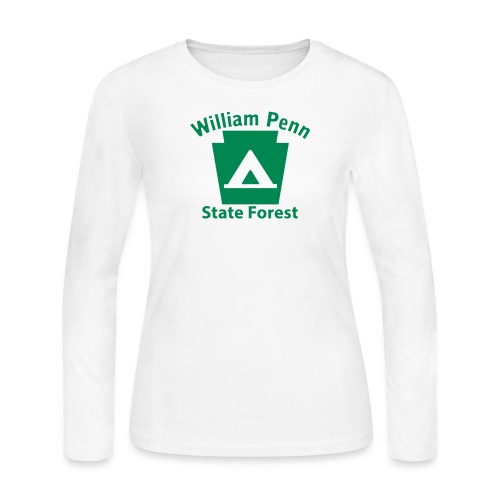 William Penn State Forest Keystone Camp - Women's Long Sleeve Jersey T-Shirt