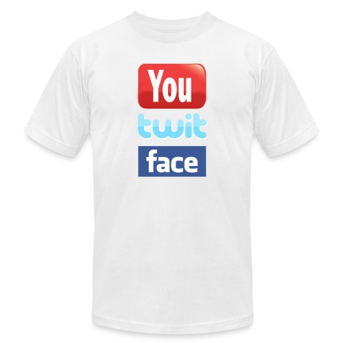 YOUTUBE TWITTER FACEBOOK - Men's Fine Jersey T-Shirt
