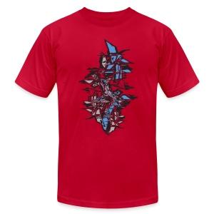 Blue Grafitti Stack Designer T shirt - Men's Fine Jersey T-Shirt