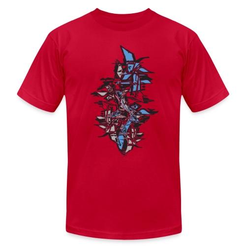 Blue Grafitti Stack Designer T shirt - Men's  Jersey T-Shirt