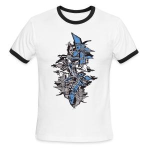 Blue Grafitti Stack Designer T shirt - Men's Ringer T-Shirt