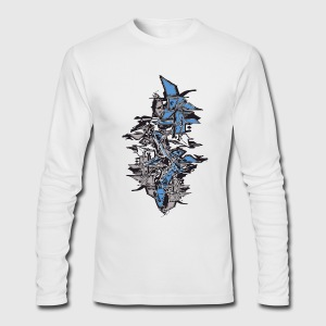 White cool grafitti stack shapes Long Sleeve Shirts - Men's Long Sleeve T-Shirt by Next Level