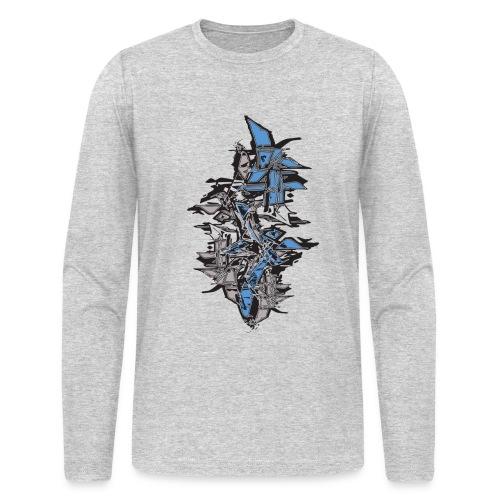 Blue Grafitti Stack Designer T shirt - Men's Long Sleeve T-Shirt by Next Level