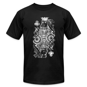 CFQ Queen of Clubs AA Tee  (colors available) - Men's Fine Jersey T-Shirt