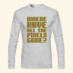 Where have all the pixels gone? (gold) - Men's Long Sleeve T-Shirt by Next Level