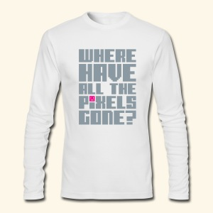 Where have all the pixels gone? (silver) - Men's Long Sleeve T-Shirt by Next Level