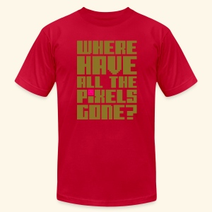 Where have all the pixels gone? (gold) - Men's T-Shirt by American Apparel
