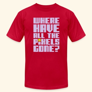 Where have all the pixels gone?  - Men's T-Shirt by American Apparel