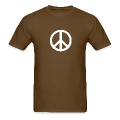 Brown peace sign
