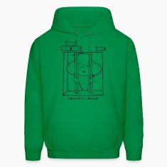 Green Free Ice Cream! Hoodies
