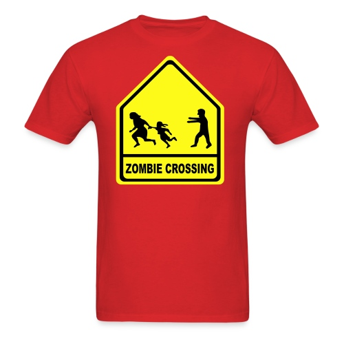 Zombie Crossing - Men's T-Shirt
