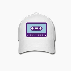 White retro cassette Caps