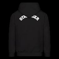 Hoodies ~ Men's Hoodie ~ STRANGER mens hoodie - design on BACK