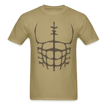 Khaki chest muscles Halloween Costume T-Shirts