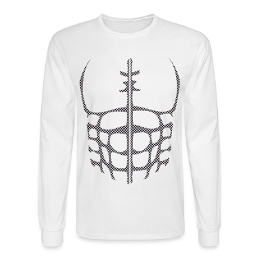 White chest muscles Halloween Costume Long Sleeve Shirts