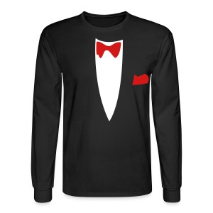 Halloween Formal Bow Tie and Suit T-shirt Costume - Men's Long Sleeve T-Shirt