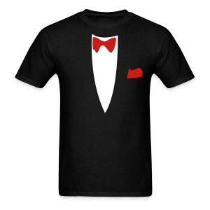 Halloween Formal Bow Tie and Suit T-shirt Costume - Men's T-Shirt