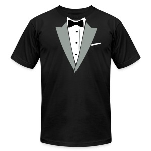 Halloween Formal Bow Tie and Suit T-shirt Costume - Men's T-Shirt by American Apparel