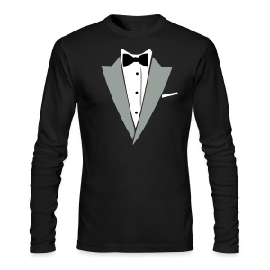 Halloween Formal Bow Tie and Suit T-shirt Costume - Men's Long Sleeve T-Shirt by Next Level