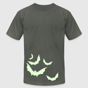 Men's Halloween t-shirt w/ glow in the dark bats! - Men's T-Shirt by American Apparel