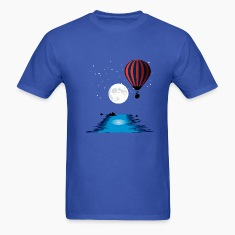 Royal blue Hot Air Balloon T-Shirts