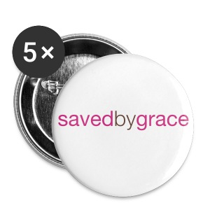 Saved by Grace - Large Buttons