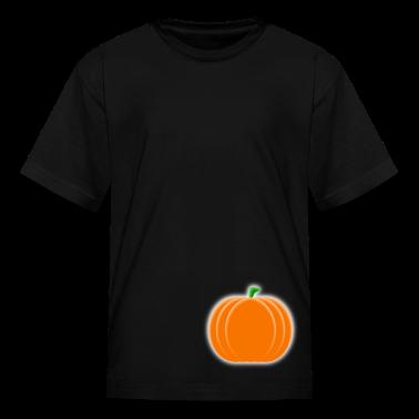 Black pumpkin_vector Kids' Shirts