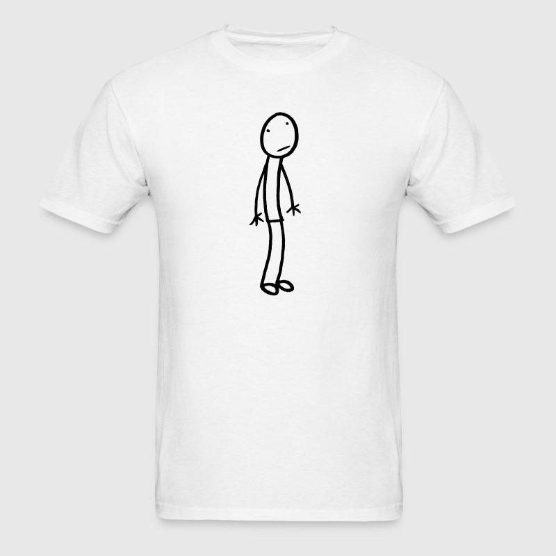 White Stick Figure Standing T-Shirt - Men's T-Shirt