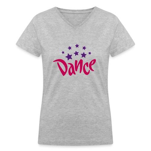 dance - Women's V-Neck T-Shirt