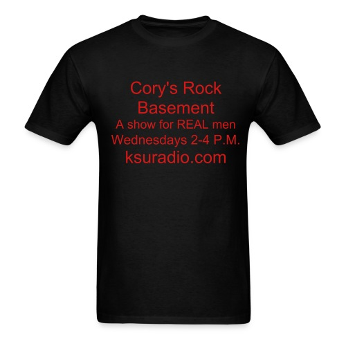 Cory's Rock Basement's firt ever official tee. - Men's T-Shirt
