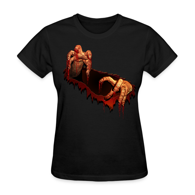 Women's Zombie Shirts Gory Halloween Scary Zombie Gifts
