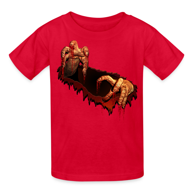 Kid's Zombie Shirts Gory Halloween Scary Zombie Gifts