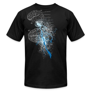 Black brain storm designer graphic T-Shirts - Men's T-Shirt by American Apparel