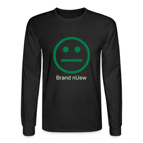 Mens: Brand nUew Green/Content Face - Men's Long Sleeve T-Shirt