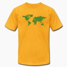 Gold World Map T-Shirts