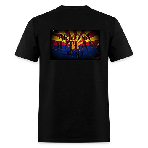 AZ Outlaw Back Only Black Std Wt - Men's T-Shirt