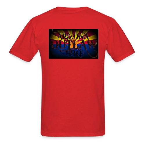 AZ Outlaw Back Only Red Std Wt - Men's T-Shirt