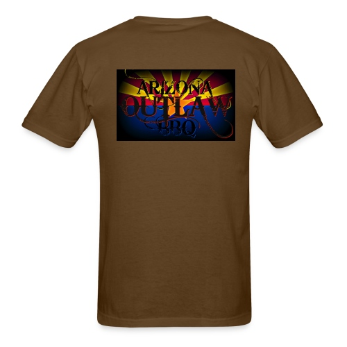 AZ Outlaw Back Only Brown Std Wt - Men's T-Shirt