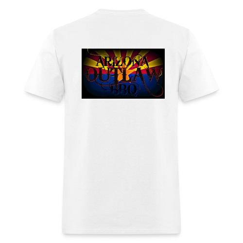 AZ Outlaw Back Only White Std Wt - Men's T-Shirt