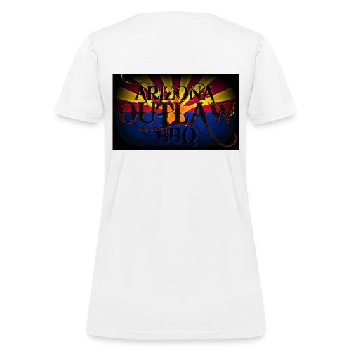 AZ Outlaw Back Only White Womens Std Wt - Women's T-Shirt