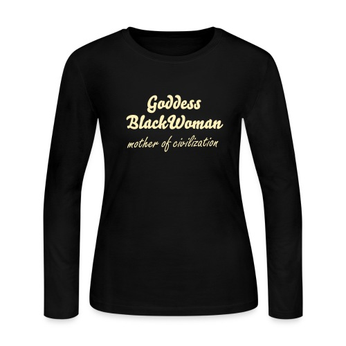 goddess blackwoman - Women's Long Sleeve Jersey T-Shirt